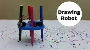 How to make a simple drawing scribbling robot at home youtube