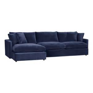 blue velvet sectional sofa the