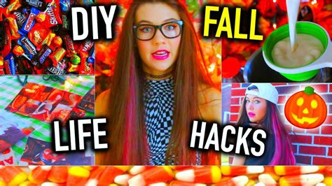 diy hacks youtube diy fall life hacks jessiepaege youtube