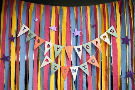 design backdrop booth teddy bears picnic photo booth backdrop bunting and stars