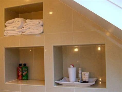 Recessed bathroom shelving bathroom in progress pinterest
