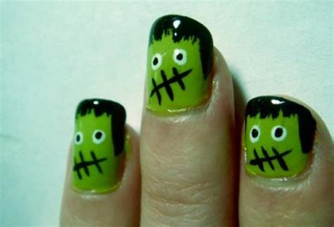 halloween frankenstein nail art unghie per halloween venti idee da copiare