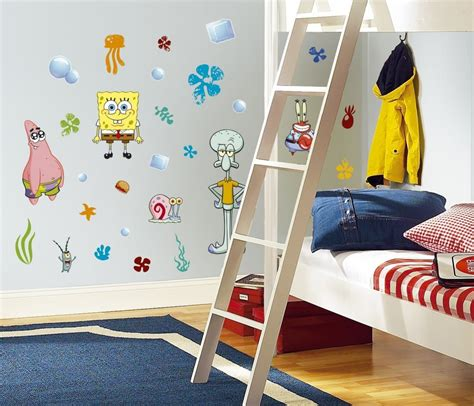 Spongebob Wall Stickers spongebob squarepants peel amp stick wall decals 187 petagadget