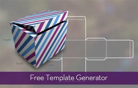 template generator free template generator for boxes bags and more 187 curbly