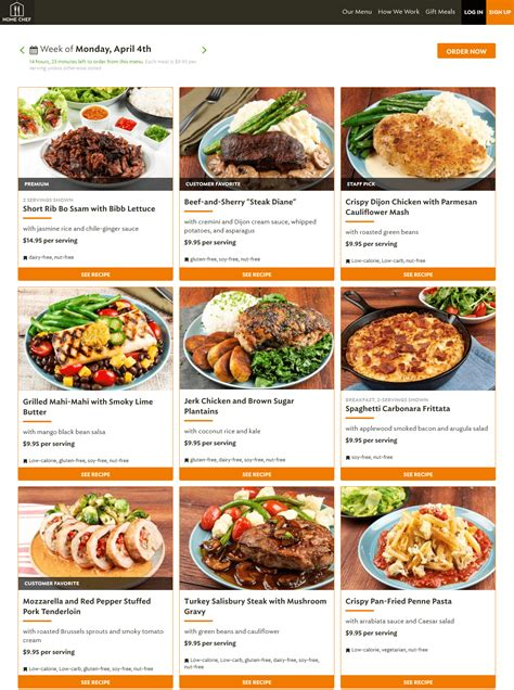 home delivery meal plans home chef review 2017 is this meal delivery program