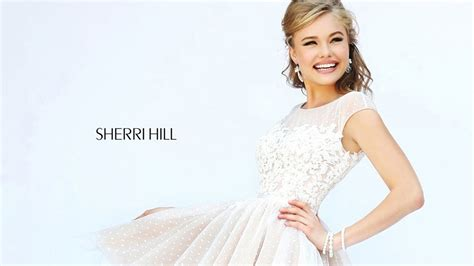 short hair sherri hill sherri hill 11267 short dress cap sleeves polka dot tulle