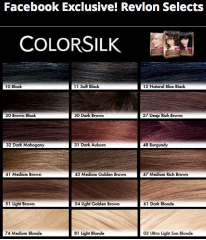 revlon hair color chart revlon hair color shades chart search hair