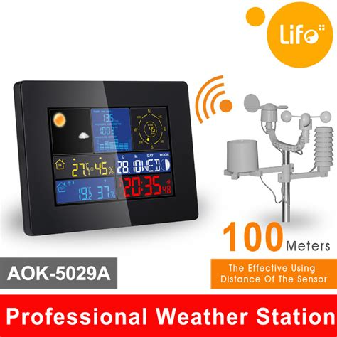 prwsell colorful wireless professional weather station