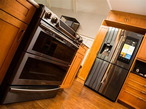 smart kitchen appliances samsung s wi fi oven and touchscreen fridge join the cnet
