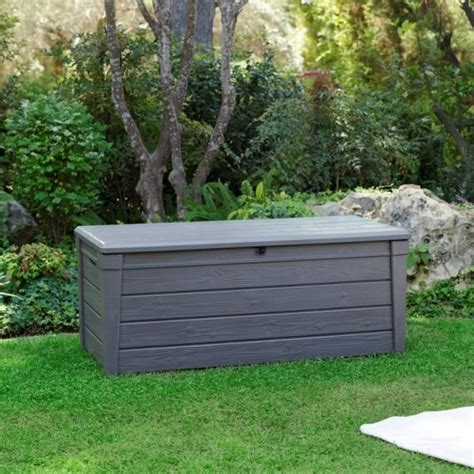 garden bench box with storage keter brightwood outdoor garden storage bench box buy