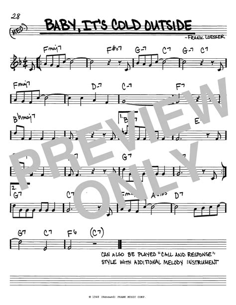 baby it s cold outside printable lyrics baby it s cold outside sheet music direct