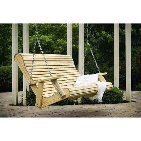 unfinished porch swing pine rollback 5 foot swing
