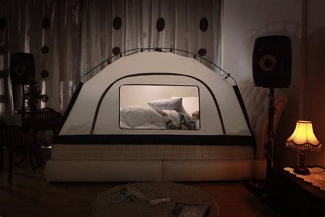 tent over bed room in room saves on heating by pitching a tent over your