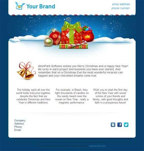 christmas email templates     atompark software