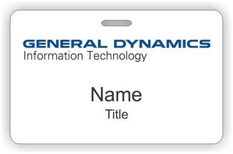 General Dynamics Id Horizontal Badge 8 27 Custom Name Badges And Name Tags Nicebadge General Dynamics Business Card Template