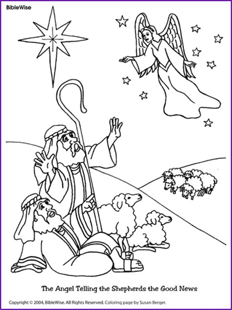 angels and shepherds coloring sheets coloring pages coloring angel telling shepherds about jesus birth
