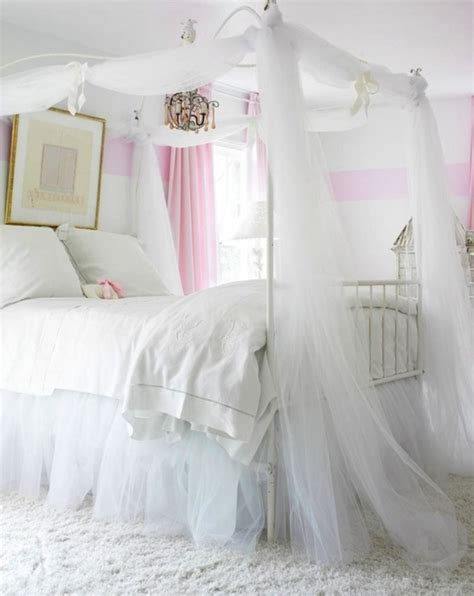 Sheer Curtains For Canopy Bed Charming Princess Bedroom Ideas With White Sheer Curtain And Metal Canopy Bed Lestnic