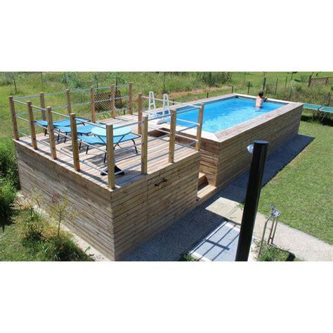 piscine fuori terra rivestite in legno piscina fuori terra con soppalco rivestita in legno di abete