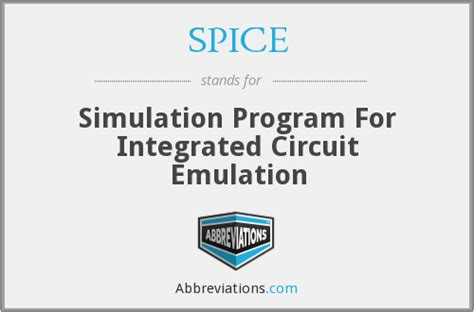 integrated circuit program spice simulation program for integrated circuit emulation