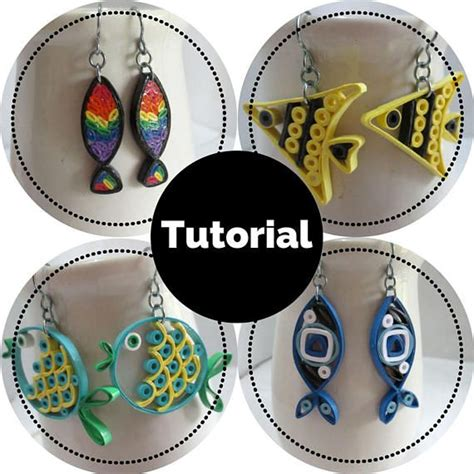 quilling earrings tutorial pdf 1947 best paper quilled jewelry images on pinterest