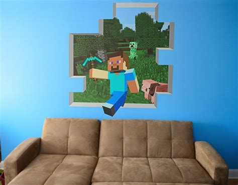 minecraft wall mural minecraft mural 56 x 62