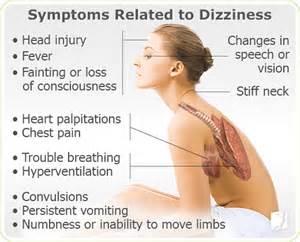 dizziness symptom information 34 menopause symptoms