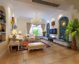 mediterranean style home interiors creative tv wall mediterranean style interior design