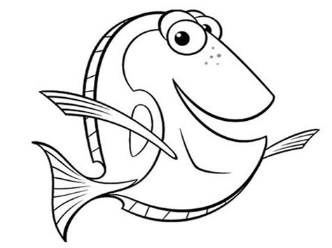 baby dory pages coloring pages
