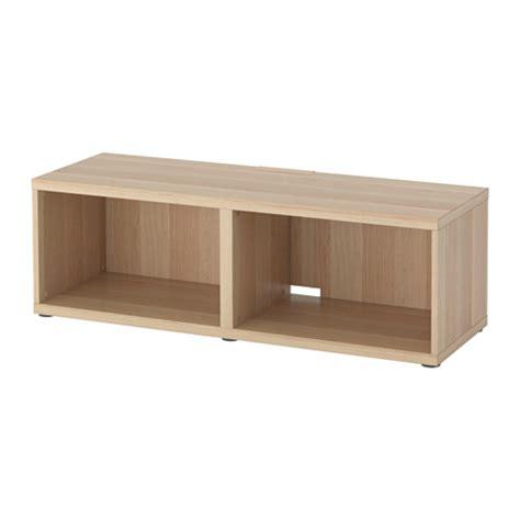 ikea besta tv bench best 197 tv bench white stained oak effect ikea