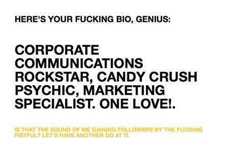 twitter biography generator grappige twitter bio generator voor als je echt geen