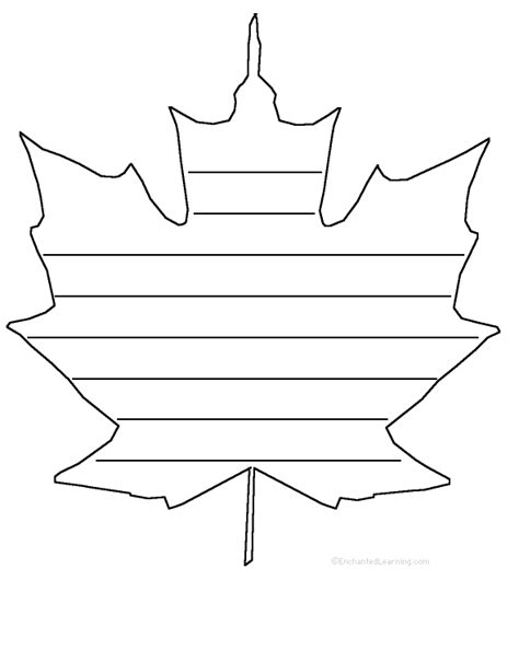 shaped writing template maple leaf shape poem printable worksheet