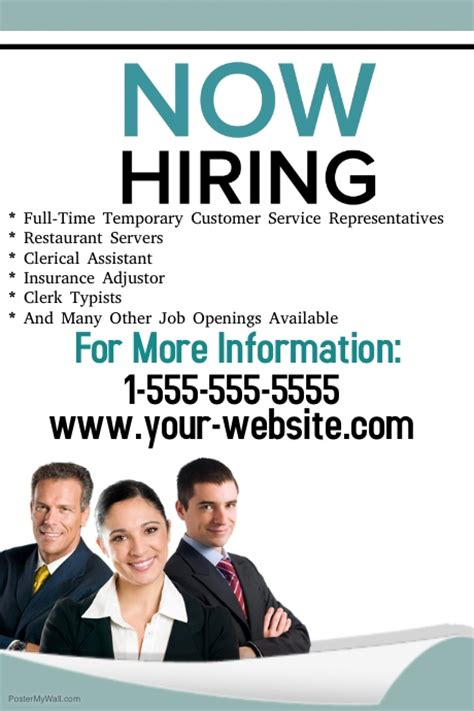now hiring template now hiring flyer template postermywall