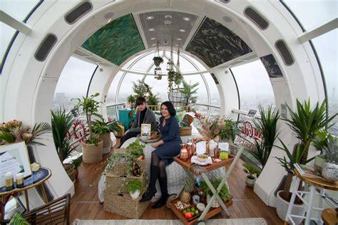 london eye capsule transformed  rainforest inspired tiny home