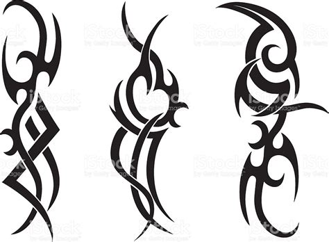 tribal tattoo designs stock vector art amp more images of