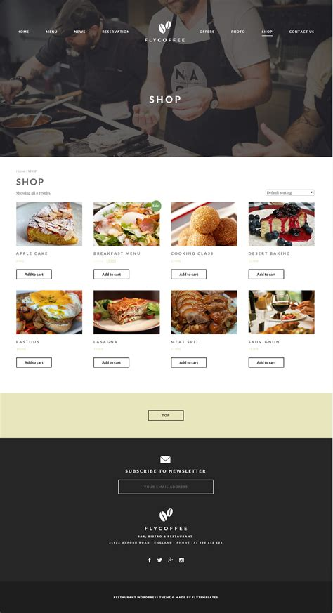 excellent cafe and restaurant website templates entheos lovely coffee shop website templates images resume ideas