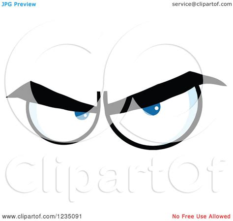 Angry Eye Bag in a vector clip illustration royalty free clipart