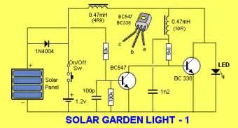 solar garden light circuit solar garden light electronics project circuts