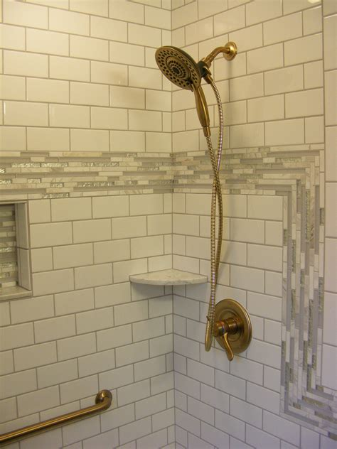 Ideas For Bathroom Remodel tile shower with delta in2ition shower in champagne bronze
