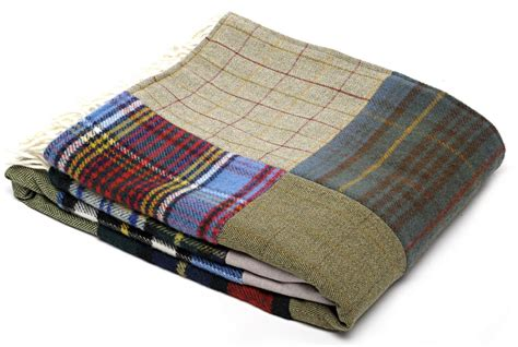 How To Make A Patchwork Throw - wool blanket made gifts patchwork