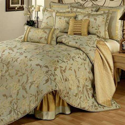 green and gold bedroom a luxury floral bedding collection in hues of green