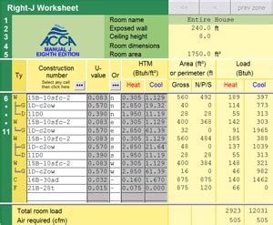 Manual J Calculation Spreadsheet Right J Acca Manual J Load Calculation Software