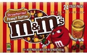 Dessert Darling Strawberry Peanut Butter M&Ms in a word