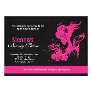 beauty salon grand opening invitations amp announcements