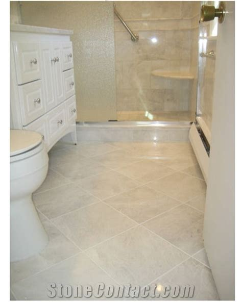 White Tile Bathroom Floor by White Marble Bathroom Floor Tiles With Image In