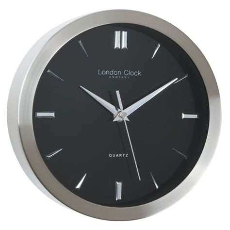 black wall clocks modern theo contemporary wall clock black australia purely