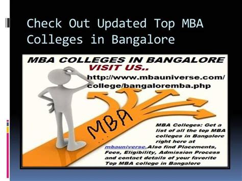 Donate Mba Books In Bangalore by Check Out Updated Top Mba Colleges In Bangalore Authorstream