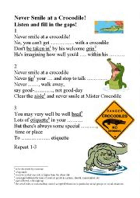 English worksheets: Never Smile at a Crocodile