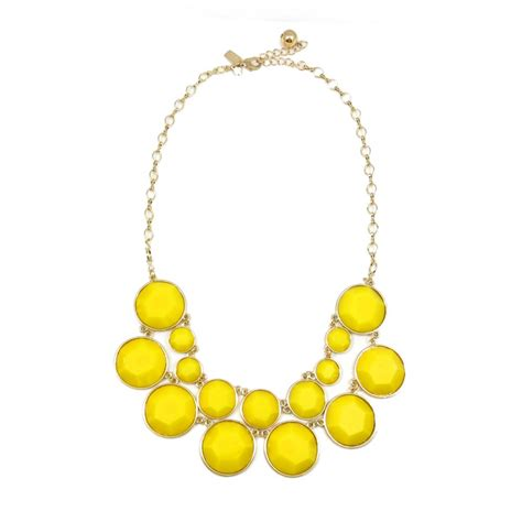 Yellow Neckles yellow baublebox row statement necklace