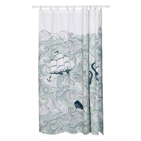 ocean curtains ocean shower curtain by radcliffe sloan