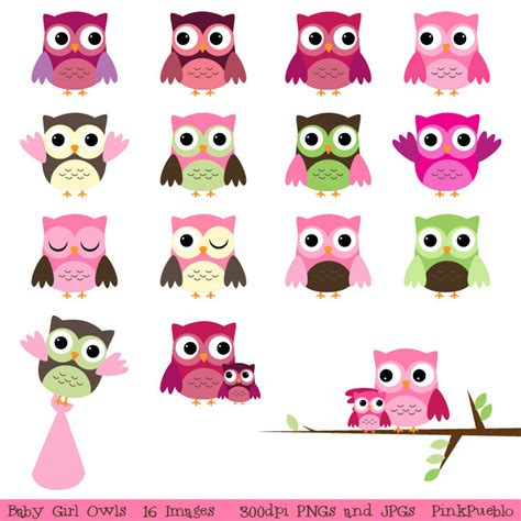 baby shower owls baby s room on flower and clip